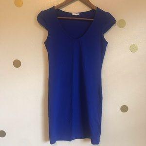 H&M Basic Tee Dress. Cobalt Blue. Size 4/6.